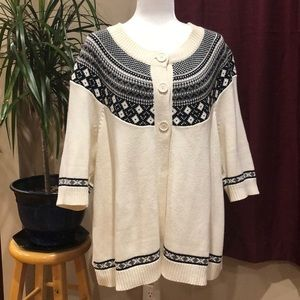 Lane Bryant Sweaters - Lane Bryant 3 button fair isle cardigan 18/20W